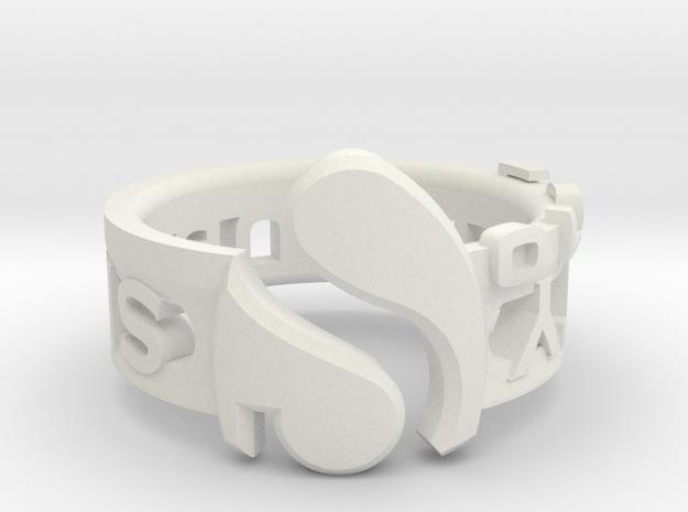 Singularity in White Natural Versatile Plastic