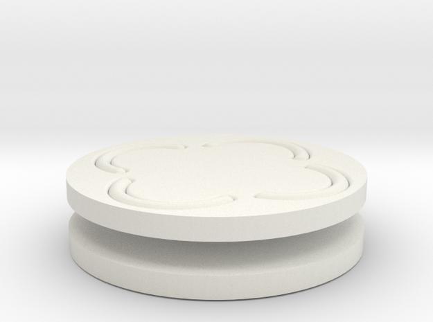 vortex buttons round in White Natural Versatile Plastic
