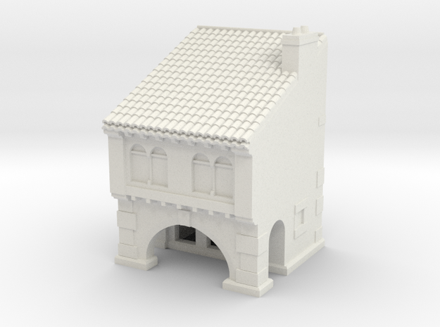 medieval house in White Natural Versatile Plastic