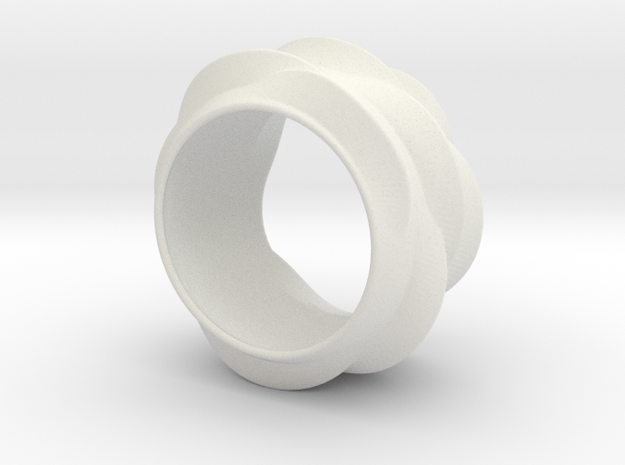 Tree-Ear Light Ring (thinner) in White Natural Versatile Plastic