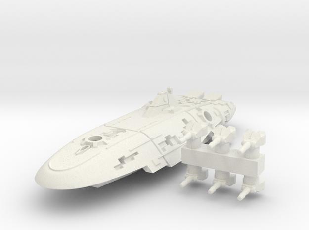 Rylos Class Corvette in White Natural Versatile Plastic