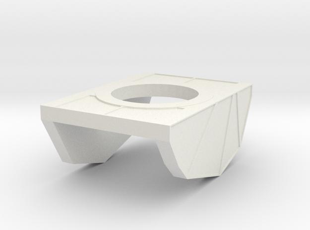 Pauldron T2 in White Natural Versatile Plastic