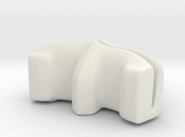 Desktop Photo-Holder SMALL in White Natural Versatile Plastic