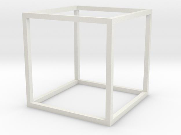 jaakko-cube in White Natural Versatile Plastic