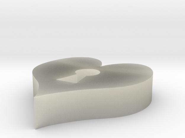 Heart Keyhole Pendant 3d printed