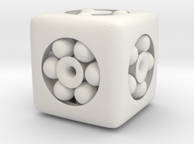 Ball Bearing 6-Sided Die (small) 3d printed