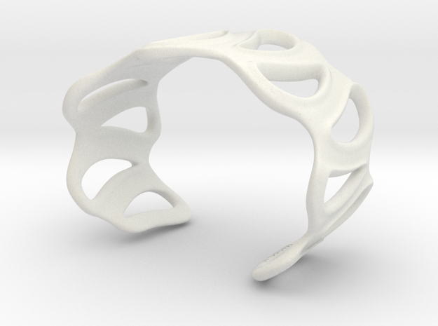 sinuous bracelet 43 in White Natural Versatile Plastic