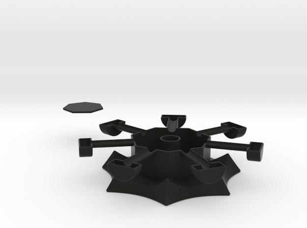 Heptagonal domino center misc. (print 2) 3d printed