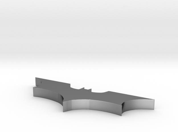 Batman Necklace Silver 3d printed