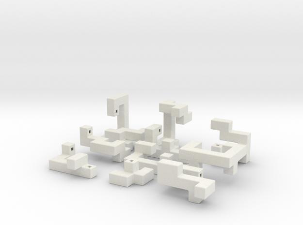 Switch Cube 5cm in White Natural Versatile Plastic