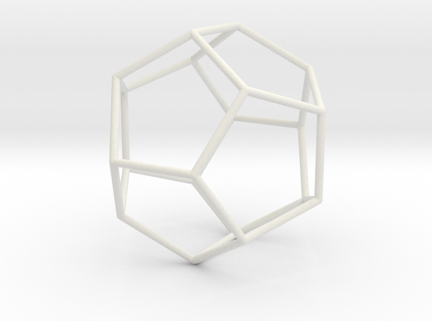 Dodecahedron in Transparent Acrylic