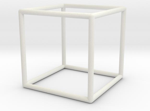 Cube in White Natural Versatile Plastic