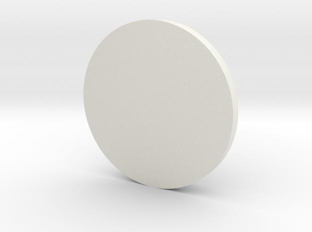 10mm Round Grill in White Natural Versatile Plastic