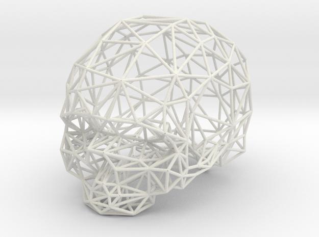 Skull Wireframe in White Strong & Flexible