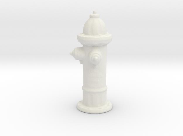 Hydrant in White Natural Versatile Plastic