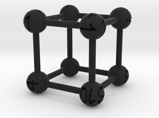 Average D6 Molecule Dice 3d printed