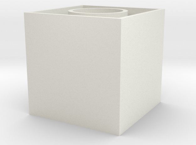 1x1x∞ center (Print ∞) in White Natural Versatile Plastic