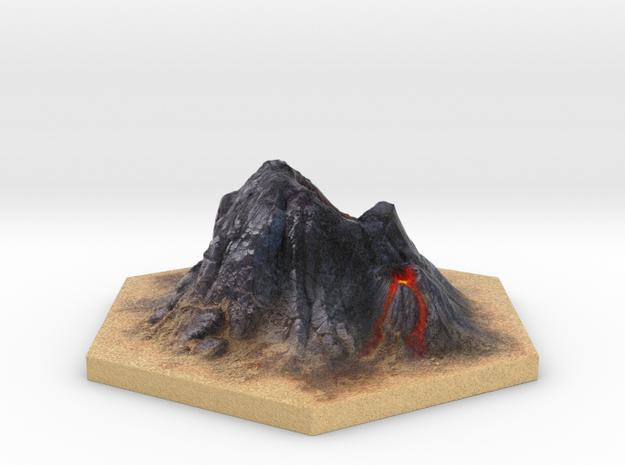 Catan_volcano_hex in Full Color Sandstone