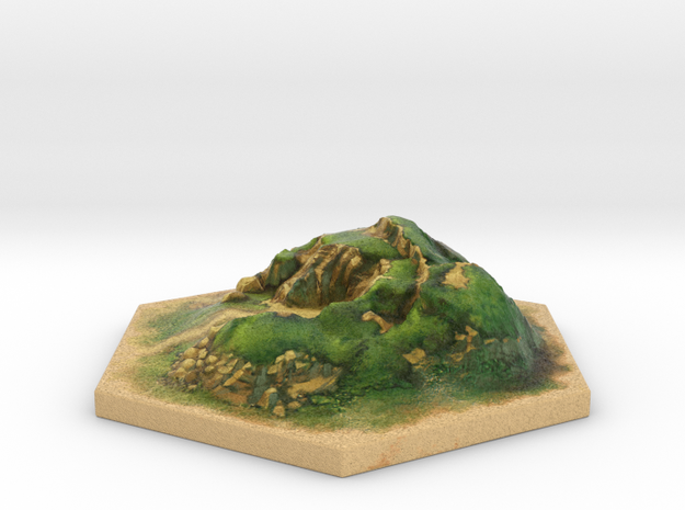 Catan_hill_hexagon 3d printed
