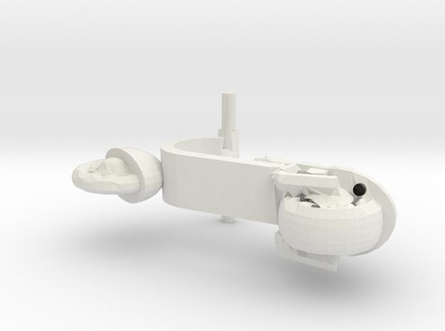 Motorino in White Natural Versatile Plastic