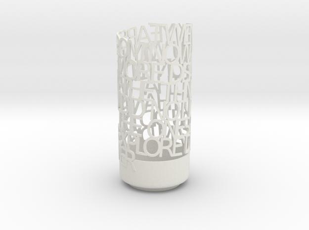 Light Poem test1 in White Natural Versatile Plastic