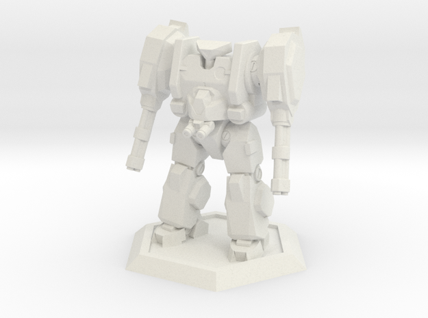 Mecha- Hunter (1/500th) in White Natural Versatile Plastic