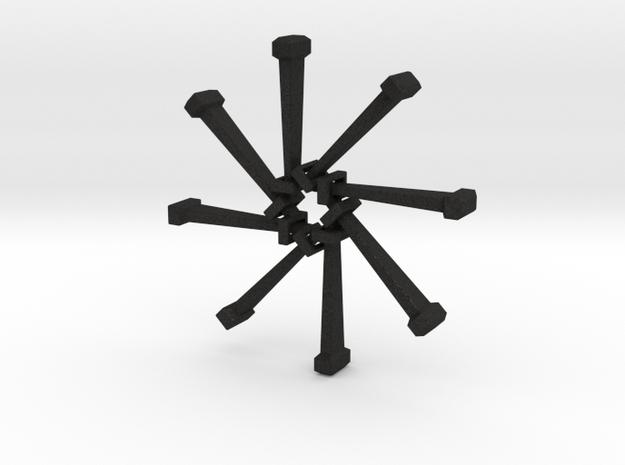 Nail Bracelet v2 3d printed