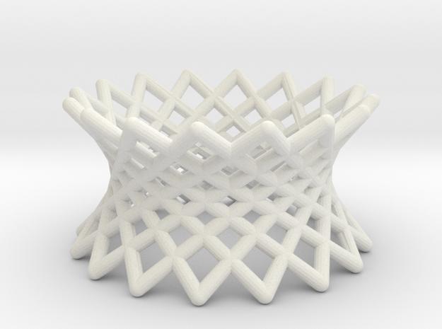 040: ruled hyperboloid in White Natural Versatile Plastic