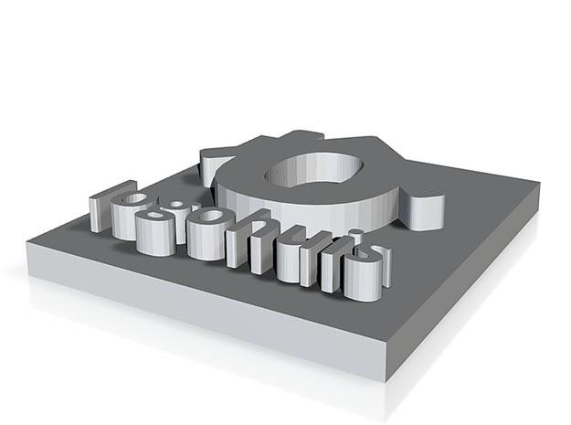 logo huis pendant 3d printed