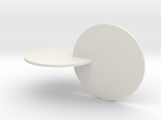 032: two very special disks in White Natural Versatile Plastic