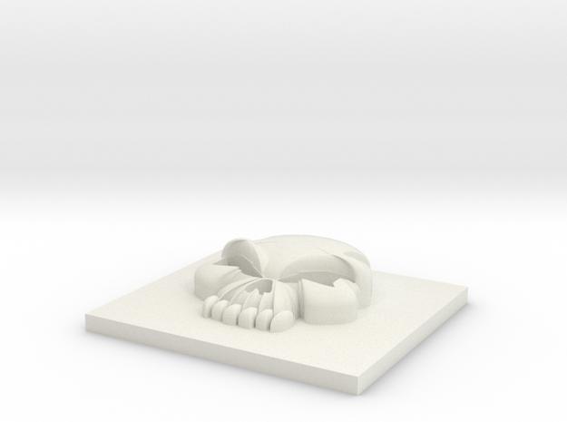 11mm Skull in White Natural Versatile Plastic