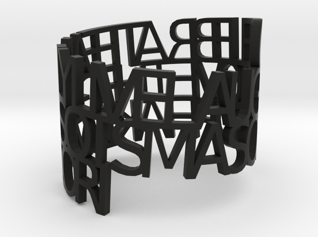 Ring Poemfamily 3d printed