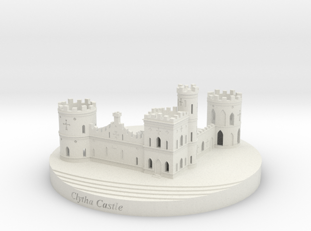 Clytha Castle 3d printed