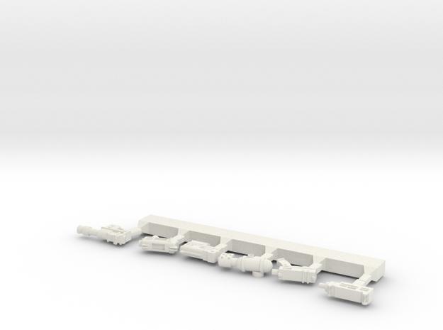 Pistol Sprue in White Natural Versatile Plastic