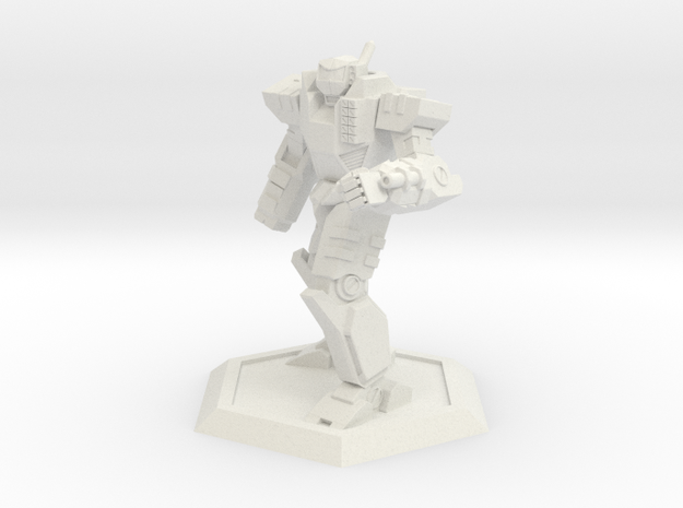 Mecha- Odyssey- Achilles Pose 2 (1/285th) in White Natural Versatile Plastic