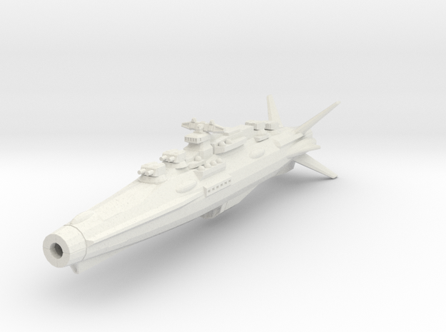 Earth Defence Fleet Cruiser Horatius Class in White Natural Versatile Plastic