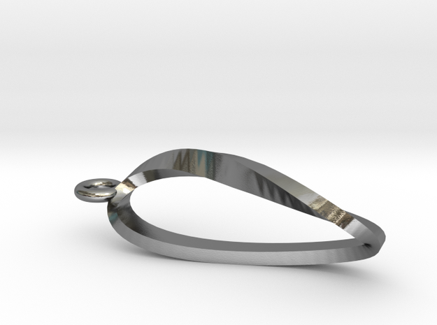 Moebius Strip Necklace Pendant 3d printed