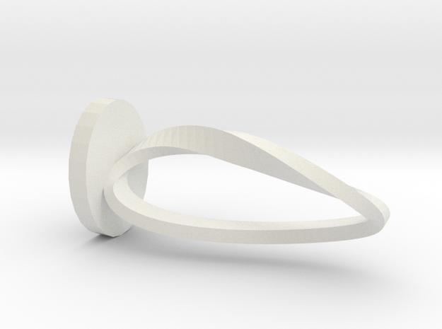 Moebius on Pedestal in White Natural Versatile Plastic
