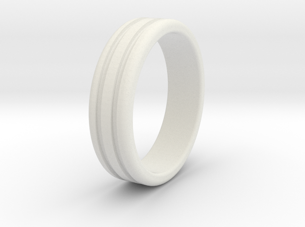 Thumb Ring-21mm in White Strong & Flexible