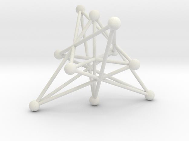 004: Petersen graph in White Natural Versatile Plastic