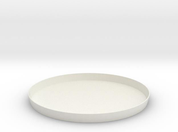 pot.on.top drainage plate in White Natural Versatile Plastic
