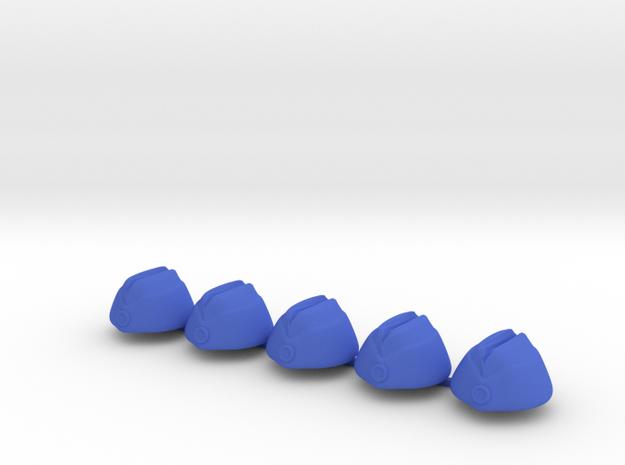5 x Oversea Cap in Blue Processed Versatile Plastic