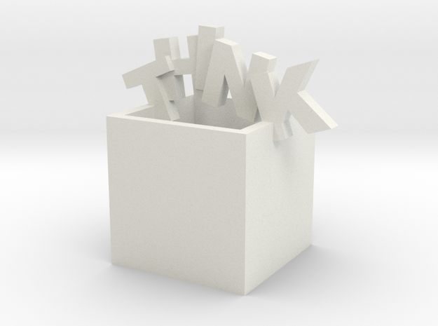 Think Outside the Box Sculpture 3d printed