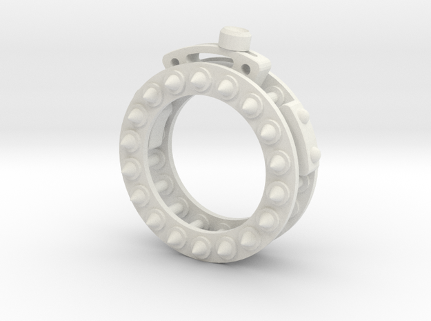 Mechanical Wheel Ring in White Natural Versatile Plastic