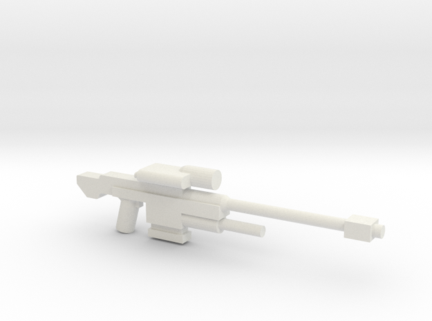 SRS 98 50.c Sniper Rifle in White Natural Versatile Plastic