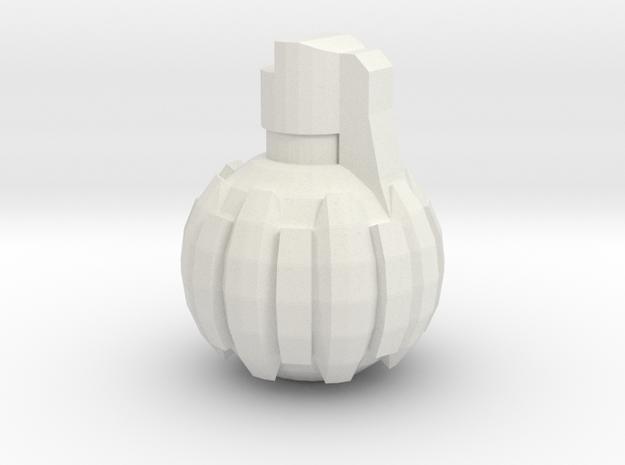 HE Hand Grenade in White Natural Versatile Plastic
