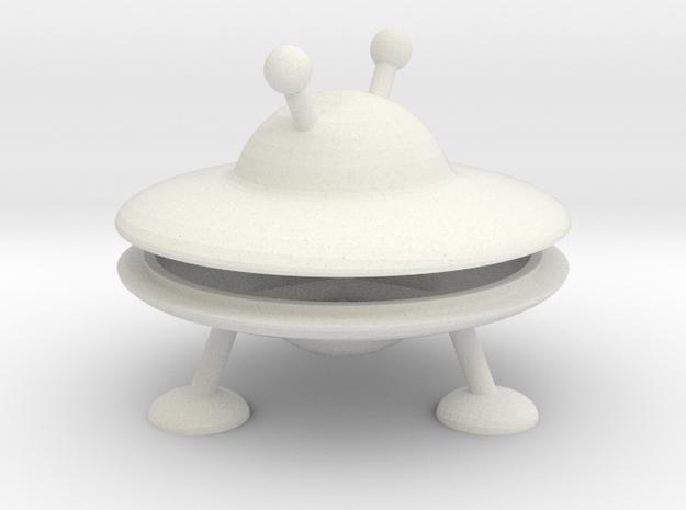 Mini UFO  in White Natural Versatile Plastic