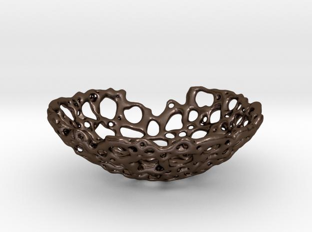 Bone Bowl II 12 cm in Polished Bronze Steel