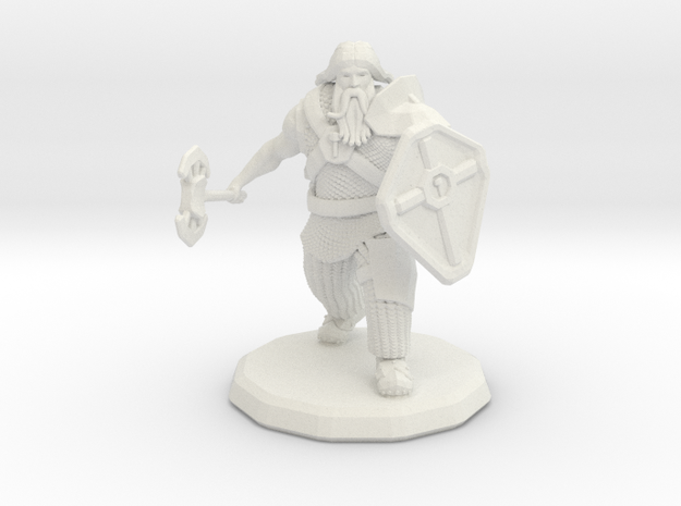 Dwarf Fighter (Large) 3d printed