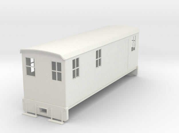 On30 Boxcab loco body in White Natural Versatile Plastic